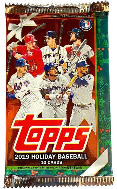 MLB Topps 2019 HOLIDAY Baseball Trading Card MEGA Pack [10 Cards!]