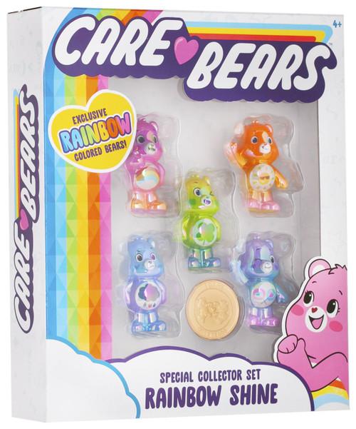 Care Bears Rainbow Shine 2-Inch Mini Figure 5-Pack [Cheer Bear, Funshine Bear, Good Luck Bear, Grumpy Bear & Share Bear]