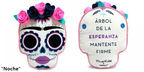 """Frida Kahlo Day of the Dead """"Noche"""" Plush Pillow (Pre-Order ships July)"""