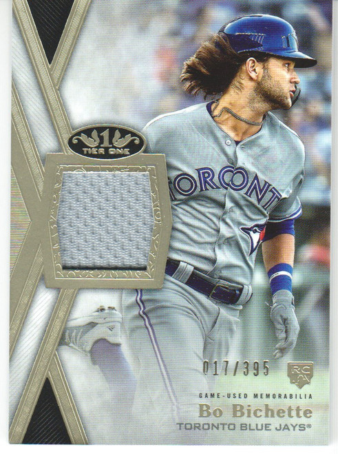 MLB 2020 Topps Tier One Bo Bichette Patch 017/395 Single Sports Card TIR-BB1