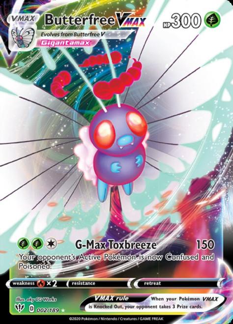 Pokemon Sword & Shield Darkness Ablaze Ultra Rare Butterfree VMAX #2