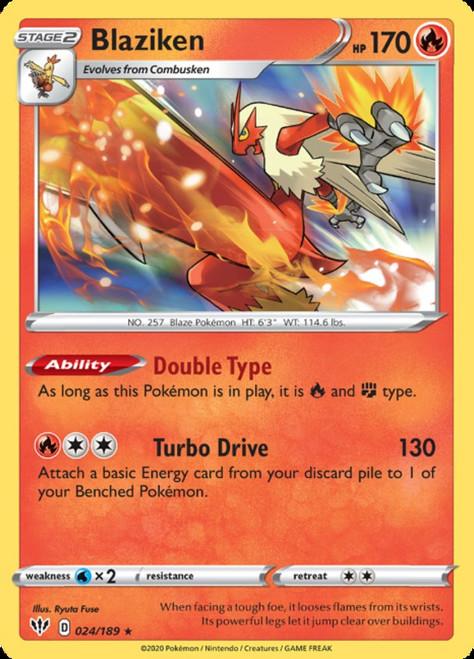 Pokemon Sword & Shield Darkness Ablaze Rare Holo Blaziken #24