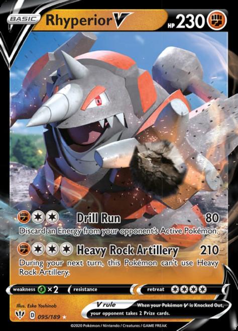 Pokemon Sword & Shield Darkness Ablaze Ultra Rare Rhyperior V #95