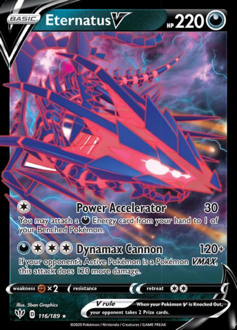 Pokemon Sword & Shield Darkness Ablaze Ultra Rare Eternatus V #116