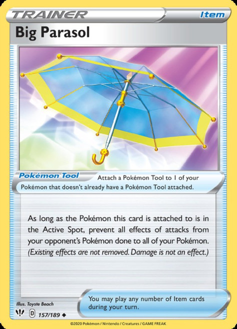 Pokemon Darkness Ablaze Uncommon Big Parasol #157