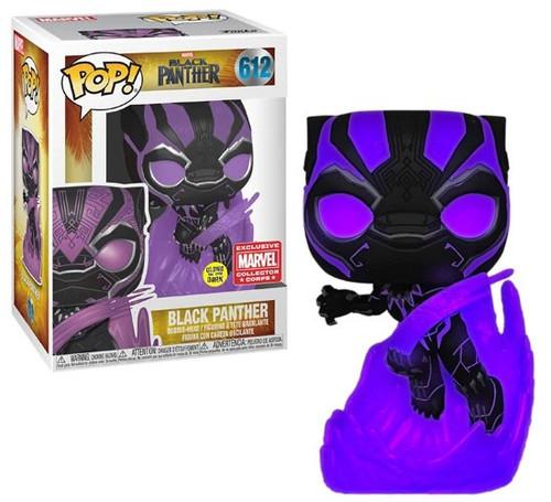 Funko POP! Marvel Black Panther Exclusive Vinyl Figure #612 [Glow-in-the-Dark, Damaged Package]