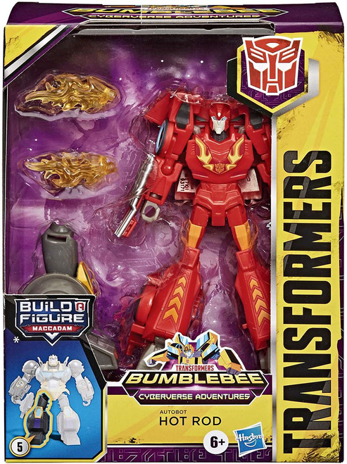 Transformers Bumblebee Cyberverse Adventures Build a Maccadam Hot Rod Ultimate Action Figure [Damaged Package]