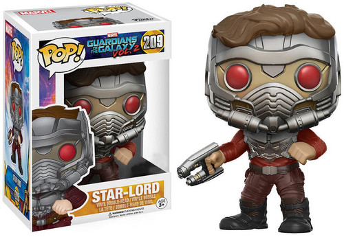 Funko Guardians of the Galaxy Vol. 2 POP! Marvel Star-Lord Exclusive Vinyl Bobble Head #209 [One Blaster, Armor, Damaged Package]