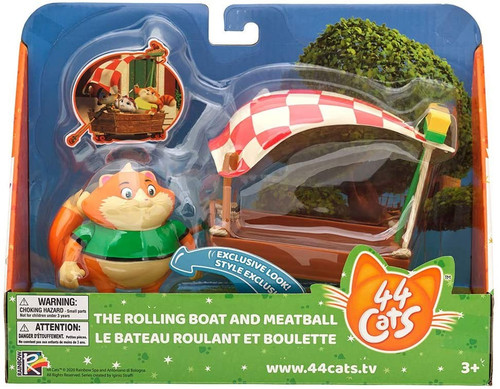 44 Cats The Rolling Boat & Meatball Vehicle & Figure