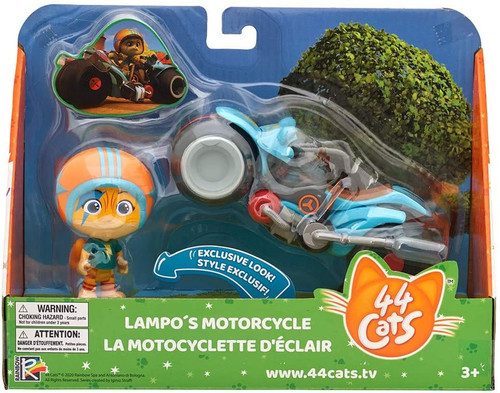 44 Cats Lampo's Motorcycle Vehicle & Figure