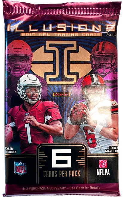 NFL Panini 2019 Illusions Football Trading Card RETAIL Pack [6 Cards]