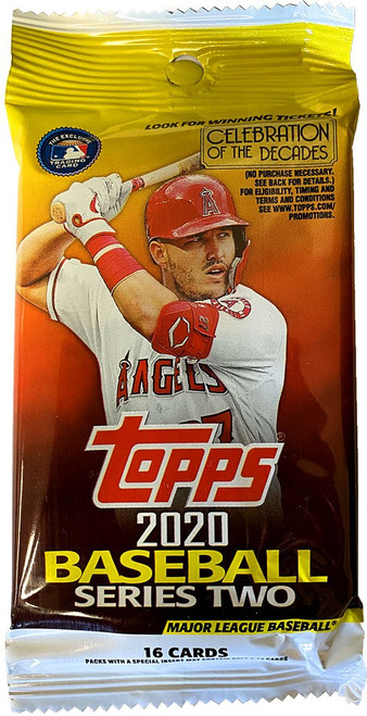 MLB Topps 2020 Series 2 Baseball Trading Card RETAIL Pack [16 Cards!]