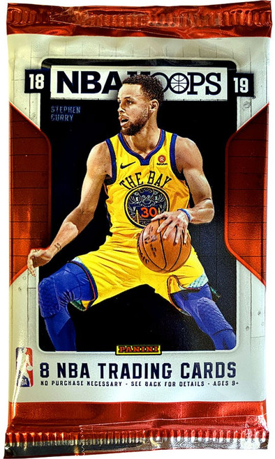 NBA Panini 2018-19 Hoops Basketball Trading Card RETAIL Pack [8 Cards]