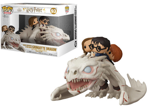 Funko Harry Potter POP! Rides Harry, Hermione & Ron Riding Gringotts Dragon Vinyl Figure #93
