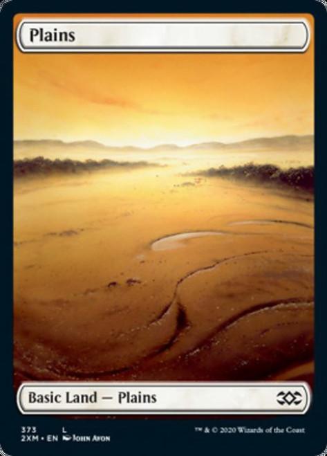 MtG Double Masters Land Plains #373 [Full-Art, Foil, John Avon]