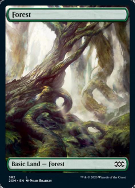MtG Double Masters Land Forest #382 [Full-Art, Foil, Noah Bradley]