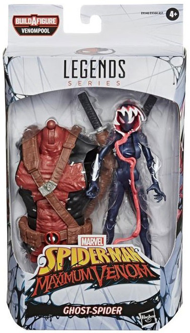Spider-Man Maximum Venom Marvel Legends Venompool Series Ghost Spider Action Figure (Pre-Order ships February)