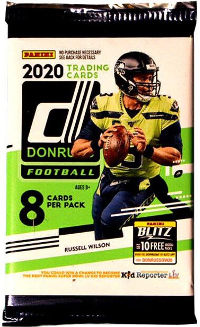 NFL Panini 2020 Donruss Football Trading Card RETAIL Pack [8 Cards]