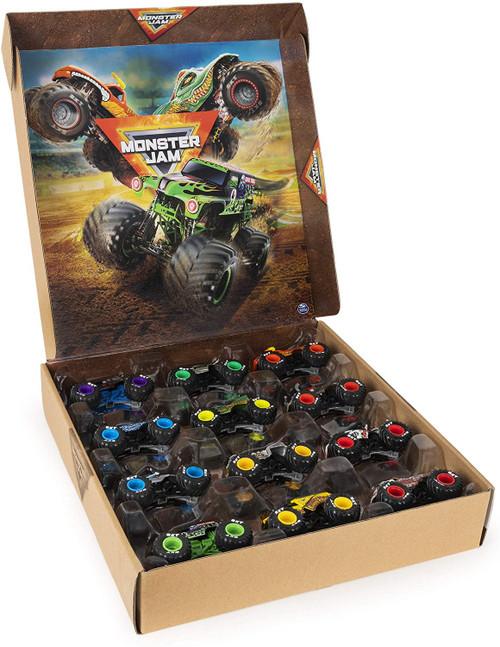 Hot Wheels Monster Jam Monster Trucks Exclusive Diecast Car 12-Pack [Grave Digger, Megalodon, El Toro Loco, Max-D & More]