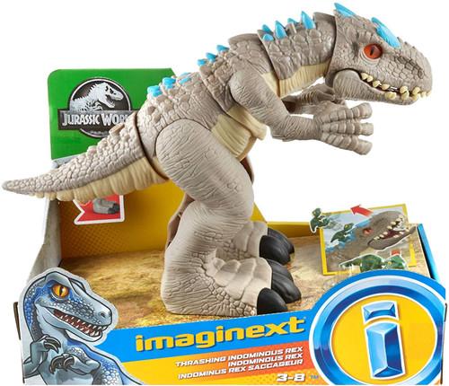 Fisher Price Jurassic World Imaginext Thrashing Indominous Rex Figure Set