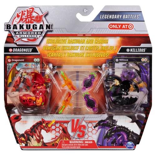 Bakugan Armored Alliance Legendary Battles Dragonoid vs. Nillious Exclusive Figure 2-Pack