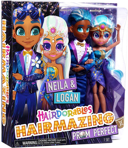 Hairdorables Hairmazing Prom Perfect Neila & Logan Exclusive Doll 2-Pack