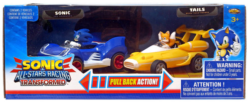 Sonic The Hedgehog All Stars Racing Transformed Pullback Racers Sonic & Tails Vehicle 2-Pack