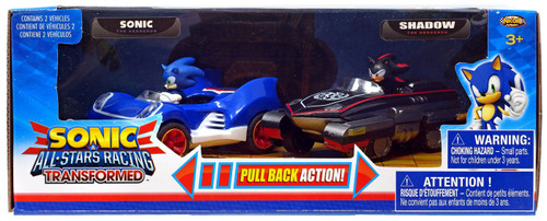 Sonic The Hedgehog All Stars Racing Transformed Pullback Racers Sonic & Shadow Vehicle 2-Pack