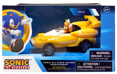 Sonic The Hedgehog All Stars Racing Transformed Pullback Racers Tails Vehicle