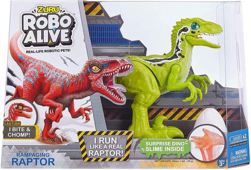 Robo Alive Rampaging Raptor Robotic Pet Figure [Green]