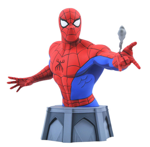 Marvel Spider-Man Animated Spider-Man 6-Inch Bust ['92 Animated Version] (Pre-Order ships January)