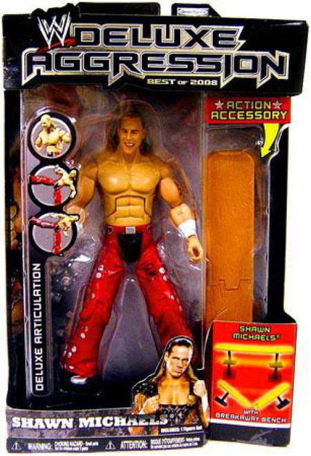 WWE Wrestling Deluxe Aggression Best of 2008 Shawn Michaels Action Figure [Damaged Package]