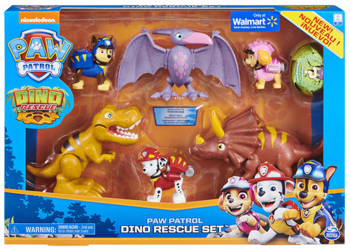 Paw Patrol Dino Rescue Set Exclusive Figure 6-Pack [Marshall, Chase & Skye]