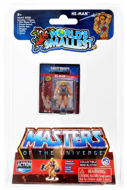 World's Smallest Masters of the Universe He-Man 1.25-Inch Micro Figure