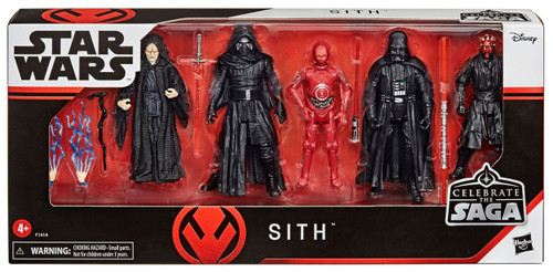 Star Wars Celebrate the Saga Sith Action Figure 5-Pack [Kylo Ren, Darth Vader, Darth Maul, Emperor Palpatine & TC-4]