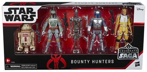 Star Wars Celebrate the Saga Bounty Hunters Action Figure 5-Pack [R5-P8, Jango Fett, Boba Fett, Bossk & IG-88] (Pre-Order ships March)