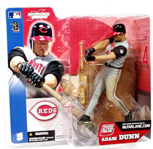 McFarlane Toys MLB Cincinnati Reds Sports Picks Series 3 Adam Dunn Action Figure [Gray Jersey, Damaged Package]