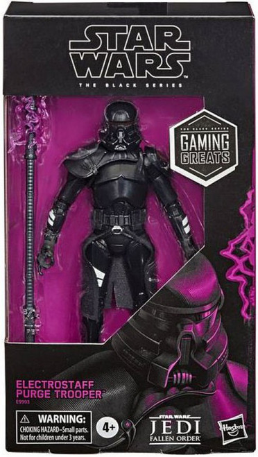 Star Wars Jedi: Fallen Order Black Series Electrostaff Purge Trooper Exclusive Action Figure [Gaming Greats]