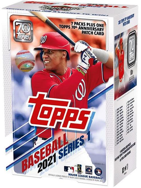 MLB Topps 2021 Series 1 Baseball Trading Card BLASTER Box [7 Packs + 1 Patch Card]