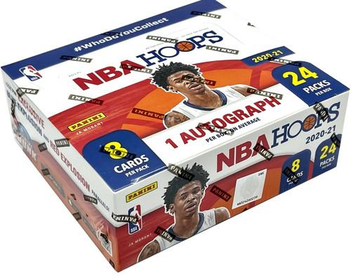 NBA Panini 2020-21 Hoops Basketball Trading Card RETAIL Box [24 Packs, 1 Autograph]