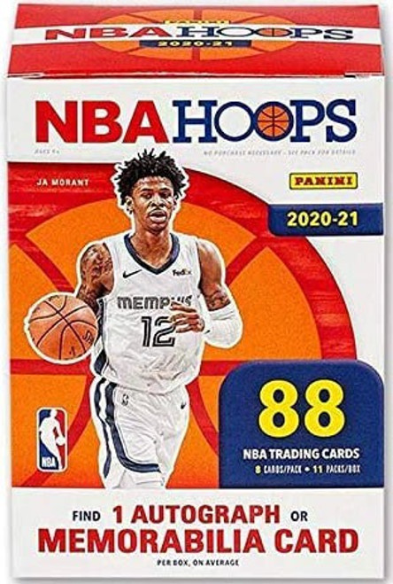 NBA Panini 2020-21 Hoops Basketball Trading Card BLASTER Box [11 Packs, 1 Autograph OR Memorabilia Card]