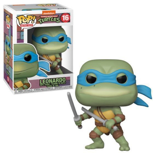 Funko Teenage Mutant Ninja Turtles POP! Retro Toys Leonardo Vinyl Figure #16
