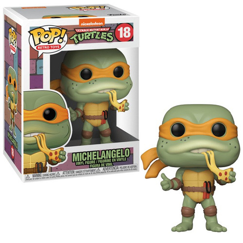 Funko Teenage Mutant Ninja Turtles POP! Retro Toys Michelangelo Vinyl Figure #18