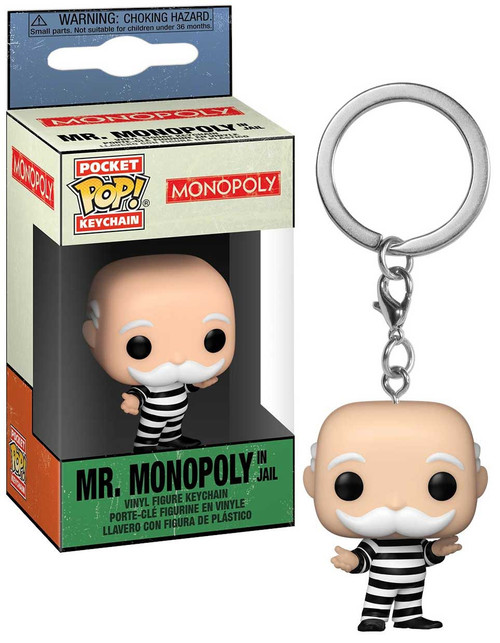 Funko Monopoly POP! Keychain Criminal Uncle Pennybags Vinyl Figure Keychain