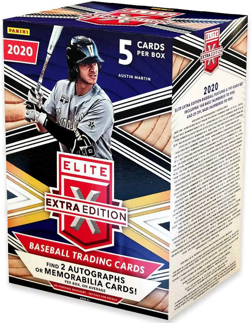 MLB Panini 2020 Elite Extra Edition Baseball Trading Card BLASTER Box [2 Autographs OR Memorabilia Cards]