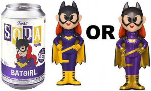Funko DC Comics Vinyl Soda Batgirl (2015 Version) Limited Edition of 15,000! Vinyl Figure [1 RANDOM Figure! Look For The Metallic Chase!]