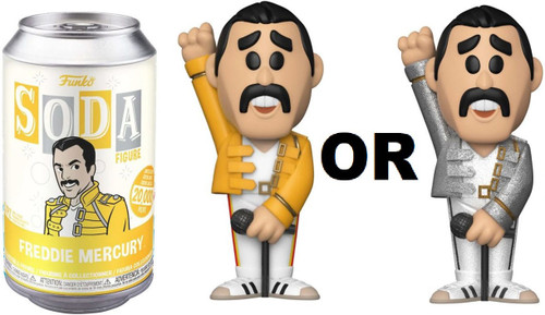 Funko Queen Vinyl Soda Freddie Mercury Limited Edition of 20,000! Vinyl Figure [1 RANDOM Figure! Look For The Glitter Chase!]