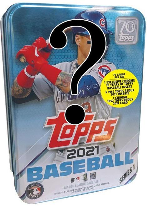 MLB Topps 2021 Series 1 Baseball Trading Card Tin Set [RANDOM Athlete On Cover]