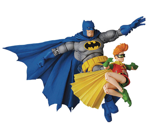 DC The Dark Knight Returns MAFEX Batman & Robin Action Figure 2-Pack [Blue Version] (Pre-Order ships July)