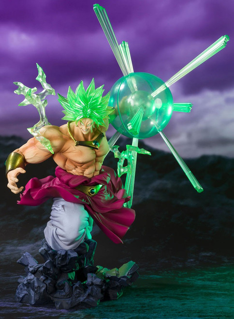 Dragon Ball Z Figuarts ZERO Super Saiyan Broly Exclusive 12.6-Inch Statue [The Burning Battles, Exclusive Color Ver.]